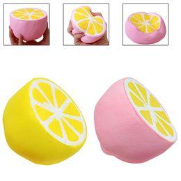 Wholesale Lemon Charms - Jumbo Lemon Squishy Fruit Slow Rising Super Soft Stress Relieve Squeeze Kawaii Phone Charms Handbag Pendant Gift Toys