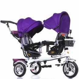 3 колеса Близнецы коляска двойное сиденье трехколесный велосипед противоударный детская коляска 3 в 1 портативный детская коляска Mutiple ребенок велосипед Kinderwage cheap tricycle wheels от Поставщики трехколесные колеса