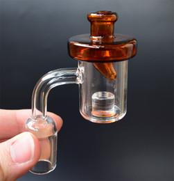 Núcleo Reactor Banger con tapa de carbohidratos Clavo Domeless Cuarzo brazalete 10 mm 14 mm 18 mm Hombre hembra 90 grados Miel cubo para dab bong desde fabricantes