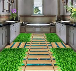 2019 травяной пол 3d полы настроить гостиной обои зеленая трава мост обои пвх настенные покрытия 3d пол живопись скидка травяной пол
