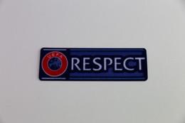 Wholesale Pcs Material - 5 pcs a lot RESPECT patch 2015-2017 Soccer badge Cashmere material velvet