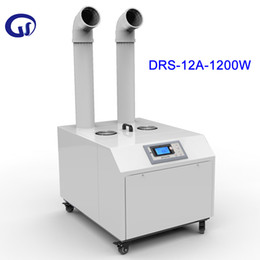 DRS 12A Intelligent Commercial Industrial Ultrasonic Air Humidifier 12KG H Factory Workshop Humidifier Double Outlet Mist Maker