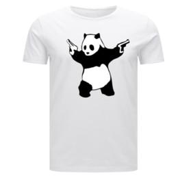 Banksy Panda Guns Child Kids Children's Adults Maglietta da uomo graffiti art urban Cartone animato t shirt da uomo Unisex New Fashion da