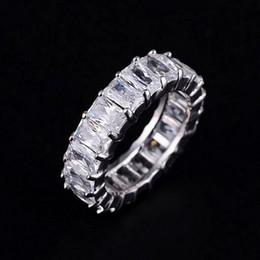 jóias cheias de ouro chinês Desconto PRATA 925 PAVE AJUSTE praça cheia Diamant CZ ETERNIDADE BAND noivado casamento anéis de pedra Tamanho 6,7,8,9 Y1891206