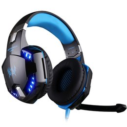 Kopfhörer 7.1 vibration online-USB-Gaming-Kopfhörer 7.1 Surround-Sound Vibration Gamer Stereo-Headset Kabelgebundener Kopfbügel Kopfhörer mit Mikrofon LED-Licht für Computer