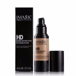 Wholesale corrector palette - IMAGIC 30ml Brand Face Concealer Contour Palette Liquid Foundation Makeup Corrector Primer Facial Cosmetics Waterproof Moisturizing bb