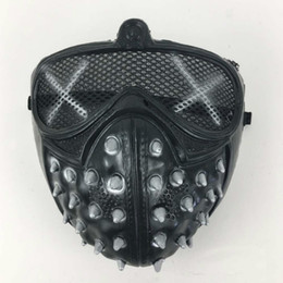 Wholesale Game Helmets - Games Watch Dogs 2 Cosplay Mask Watch Dogs wrench Mask PVC Fabric Type Adult Men Cosplay Prop Costume Half Helmet