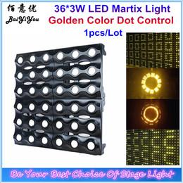 Wholesale matrix sounds - Wholesale- Pro Disco DJ Party Wedding Stage Light 36pcs 3W Golden LED Martix Light Dot Control 6x6 Amber LED Matrix Blinder Light