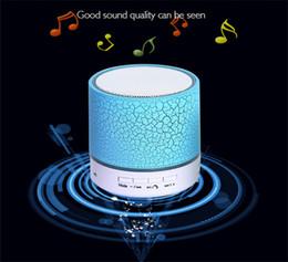 petit mini haut-parleur bluetooth Promotion A9 crack Bluetooth carte audio téléphone portable ordinateur canon mini subwoofer sans fil led lumière petit haut-parleur coloré crack bluetooth haut-parleur