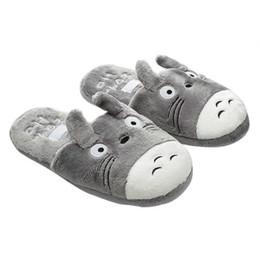 c771b111555 Totoro Cute Cat Cartoon Animal Women men Couples Home Slipper For Indoor  House Bedroom Flats Comfortable Warm Winter Shoes