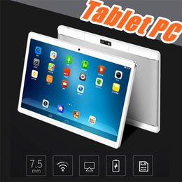 "pc bluetooth gps Promo Codes - 10"" inch MTK6582 Octa Core 1.5Ghz Android 6.0 3G Phone Call tablet pc GPS bluetooth Wifi Dual Camera 4GB RAM 64GB ROM G-10PB"