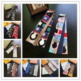 2019 cinto de gravata de seda Lenços de seda multi-marca top designer de marca super macio 8 * 120 cm top fita moda headband bow tie bolsa cinto cinto de gravata de seda barato