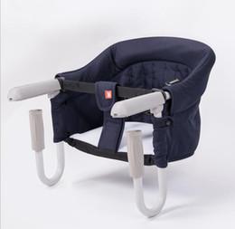 assento dobrável do bebê Desconto 6-36 meses Bebê Cadeira Dobrável Portátil Criança Bebê Para Fora Assento jantar Crianças Bebê Cadeira de Alimentação Do Assento Infantil Portátil KKA6266