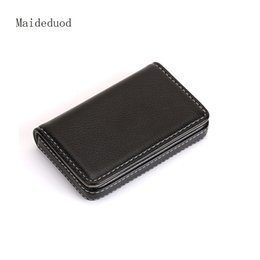 Wholesale Invisible Cards - Maideduod metal lychee stripes large capacity invisible magnetic suction card box.
