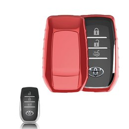 accessories camry Promo Codes - Car-covers TPU Soft Car Key Cover Case For key TOYOTA SPECIAL for CROWN PRIUS COROLLA VIOS CAMRY REIZ Keyrings Car Accessories