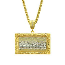 Ювелирные изделия ожерелья mens онлайн-Тайная вечеря хип-хоп чокер щепка золотая цепочка замороженные цепи дизайнер ювелирных изделий кубинские ссылки мужские ожерелья