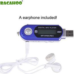 definição do cartão usb Desconto RACAHOO Mini MP3 Player Display LCD com USB Música de Alta Definição MP3 Player Suporte Rádio FM Cartão SD com fone de ouvido livre