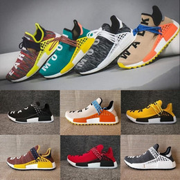 buy popular 7384c 9b137 Adidas Human Race 2018 Nmds Human Race Pharrell Williams x Best Quality Hu  Runner Friends Famiglia Rosso Blu Giallo Nero Donna Uomo Runing Shoes Sport  ...