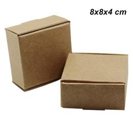 8x8x4 см коричневый 20 шт./лот карточная доска крафт-бумага упаковочная коробка для украшения Ювелирные изделия печенье картон ручной работы мыло конфеты хранения упаковочные коробки от