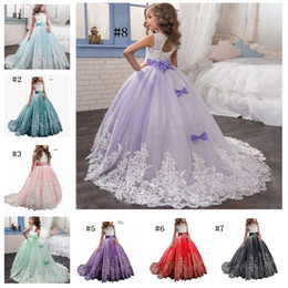 2019 vestito fatto a mano dalla ragazza fatta a mano 2019 Tulle Custom Cute Little Girl Flower Girl Dress Sleeveless Piano Lunghezza Hand Made Kids Party Birthday Dress vestito fatto a mano dalla ragazza fatta a mano economici