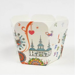 Wholesale Wholesale Mini Cupcake Liners - Happy Castle Paper Cupcake Liners High temperature Baking Cup Muffin Tray MINI Cups 200pcs lot CK167