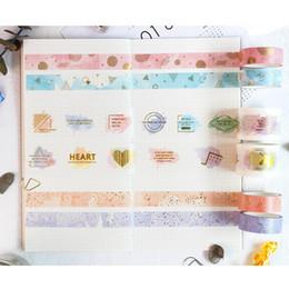 Nastro adesivo oro online-Washi tape in carta oro glitterato Adesivo washi tape in carta colorata per diario di libri mobili Materiale scolastico per cancelleria FJ897 2016