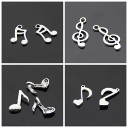 Wholesale Music Note Bracelets - different shape and design silver color alloy material music note charms pendant for charming bracelet 300pcs  lot free shipping