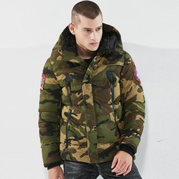 Зеленое хлопковое пальто онлайн-Parka  Winter Jackets Men Warm Thicken Coat Hot Sell Army Green Top Quality Famous Cotton-Padded Fashion Camouflage Parkas