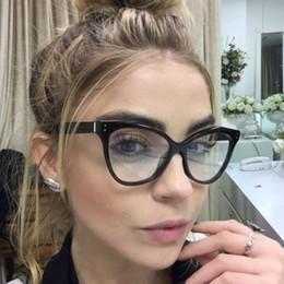 2019 i telai di vetro all'ingrosso di moda Occhiali da lettura Cat Eye Occhiali da vista Occhiali da vista 2018 Nuove donne Montatura da vista Telaio Ultra Light Trasparente