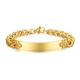 Wholesale br jewelry - Luxury Noblest 18K Gold Plated Stainless Steel Men's Bracelet High Quality Famous Brand Jewelry Chain Bracelet Accessories BR-004G