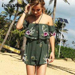 d2974ba1a7 Hot Sale 2018 New Summer Women Rompers Sexy Print Lace Female Jumpsuit  Short Elegant Chest Wrapped Lady Playsuit Overalls Romper