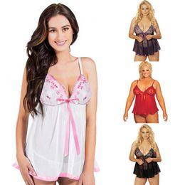 sexy lingerie europee Sconti Sexy lingerie prospettiva di grandi dimensioni pizzo sexy ricamato sequin cinturino camicia da notte Europa e negli Stati Uniti modelli di esplosione