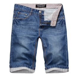 Wholesale 29 32 Jeans Men - 2018 Summer Blue Men's Jeans Shorts Large Size 28 29 30 32 36 38 42 Youth Fashion Casual Man Cotton Shorts Cool and Comfortable