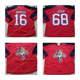 89fa7cbb7 2015 CHEAP HIGH QUALITY 68 JAROMIR JAGR 16 ALEKSANDER BARKOV JRESEY MENS FLORIDA  PANTHERS RED HOME PREMIER STITCHED HOCKEY JERSEYS