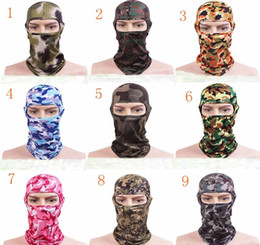 Wholesale Military Face Camouflage - Camouflage Balaclava Ninja Hood Military Camo Balaclava Tactical Balaclava Ski Mask Motorcycle Face Mask for Outdoor Camping Cycling Climbin