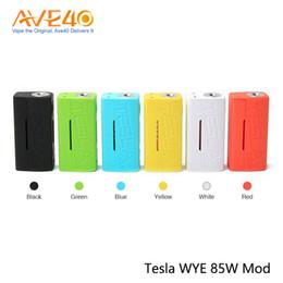 controles de temperatura individuais Desconto Tesla WYE 85W Mod Alimentado por Único 18650 Bateria Suporta Controle de Temperatura de Carregamento USB 100% Original