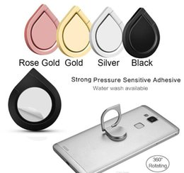 Wholesale Magnetic Finger - Hot Top Quality Water Drop Finger Ring Holder Universal Mobile Phone Ring Magnetic Stander With Retail Package For iPhone All Handset