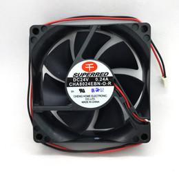 fans superred Promotion Nouveau ventilateur de refroidissement à double roulement à billes SUPERPERD original CHA8024EBN-O-R DC24V 0.24A 80 * 80 * 25MM