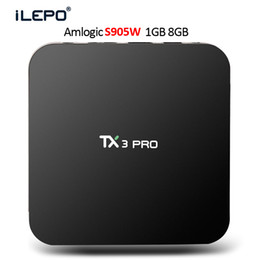 Wholesale Wi Fi Tv Box - Android tv box Quad Core TX3 PRO S905W TV BOX Support 2.4G Wi-Fi 4K HD video 3D movies Streaming Media Player