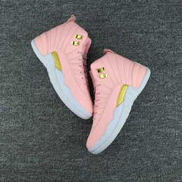 Wholesale youth purple basketball shoes - 2018 New Mens Womens 12S Basketball Shoes Sneakers 12 GS Hyper Youth Pink Lemonade Designer Zapatos Grey Bordeaux Flu Game Chaussures