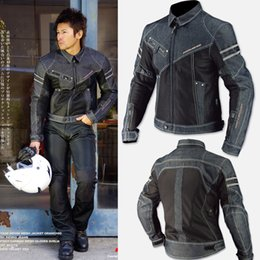 2019 chaquetas de malla de motocicleta NUEVA jk006 denim mesh automóvil raza motocicleta chaquetas motocicleta ropa paseo chaqueta de mezclilla rebajas chaquetas de malla de motocicleta