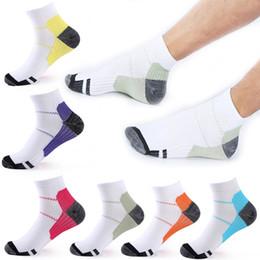 Wholesale Tube Socks Hot - Multicolor Casual Sports Compression Socks Vein Short Tube Elastic Compression Sock 6 Color Hot Sale Free DHL G463Q