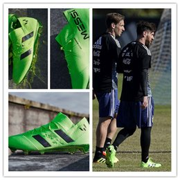 Wholesale ground yellow - Messi Top Quality Nemeziz 17+ 360 Agility FG Football Shoes Men Firm Ground Nemeziz Messi 17.1 Football Boots Outdoor Soccer Shoes