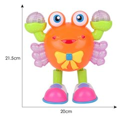 Wholesale Electronic Wheels - The New Dance Crabs Cartoon Universal Wheel Light Music Dance Can Crawl Electric Toy Robot