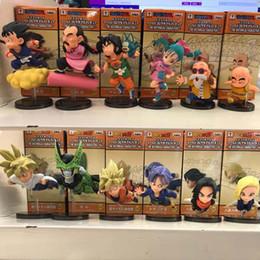 Dragon Ball Çocukluk Maymun Kral ve Çocukluk Sun Wu Pirinç 12 Parça Set Koleksiyonu Doğum Günü Hediye PVC Ücretsiz Kargo cheap balls monkey nereden toplar maymun tedarikçiler