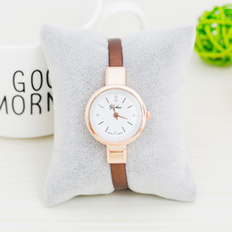 Wholesale Fine Black Ladies - Ladies fashion small dial watch strap watch retro cute fine fresh art students on behalf of quartz watch