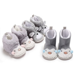 Lindos zapatos de invierno para niñas online-Pudcoco Cute Winter Baby Shoes Botas Newborn Toddler Infant Baby Girl Boy Calzado Zapatos Soft Cotton Zip Botas Prewalker Canva 0-18M