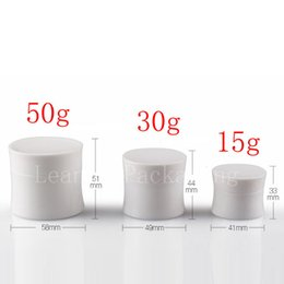 Wholesale Round Cosmetic Tins - 15g 30g 50g empty white round waist cosmetic jar container, plastic container for cosmetic packaging,cosmetic tin skin cream