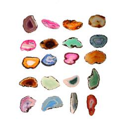 Color al azar !!! Ágata Geoda Pulido Irregular Rebanada de Cristal Brasil Curación Reiki Piedra Natural Cuarzo Colgante Mineral Decoración para el hogar desde fabricantes