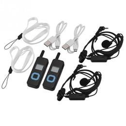 2019 conjuntos de intercomunicación 2 Unids mini walkie talkie acumulador batería cargador usb de radio portátil set walkie-talkie UHF walkie-talkies jamón rebajas conjuntos de intercomunicación